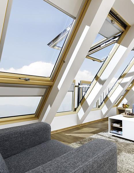 Okno dachowe a balkon
